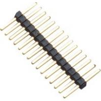 Quality 1.0mm 1*15P DIP PA9T Black Single Pin Header Connector Pe Bag For PCB Board wholesale