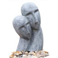 Quality Long Face Figure Outdoor Resin Garden Fountains Decor OEM Acceptable wholesale