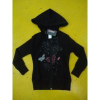 Quality Little Girls Zip Up Hoodies Long Sleeve Cotton French Terry Zip Hoodie Butterfly Print wholesale