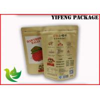 Buy cheap Food Stand Up Kraft  Paper Packaging Bag With Delicate Printing and zipper Top product