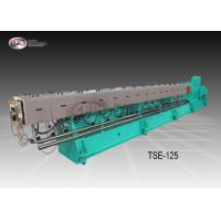 China Big Size Co Rotating Twin Screw Extruder For Plastic Pelleting Robust Frame Design on sale