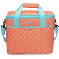 China 18L Large Soft Insulated Food Cooler Bags For Grocery Camping Orange Color on sale