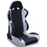Quality Black And Grey Racing Seats Fully Reclinable + Slider Universal 1 Pair Jbr 1004 Series wholesale