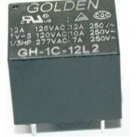 Quality GH 12A 12V Household Appliance Relay , Golden High Power Relay wholesale