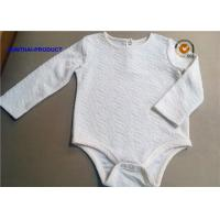 Quality Cool Fabrication Baby Romper Suit , Crinkle Fabric Long Sleeve Bodysuit Baby wholesale