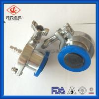 Quality Anti Rust Air Blow Check Valve Clamp T316 W Thermometer Cap EPDM 4 Inch wholesale