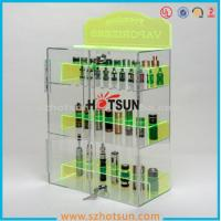 Quality clear acrylic e-cigarette display stand /e-liquid display case / e liquid bottle display wholesale