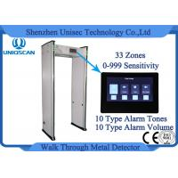 Quality 33 Zones 0-999 Sensitivity Walk Through Metal Detector Body Scanner With 10 Type Alarm Tones wholesale