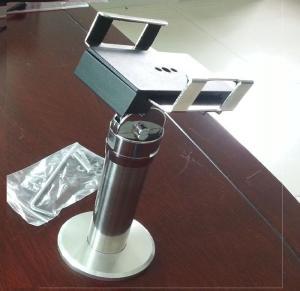 Cheap 11.8-21cm adjustable width tablet pc metal display lockable holder , base for sale