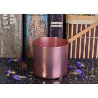 Quality OEM Tin Candle Holders 8oz Wax Filling Rose Gold Votive Metal Candle Jar wholesale