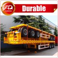 Buy cheap China best sell NEW price 3 axle flatbed semi trailer with high quality from wholesalers