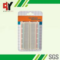 Quality Square Hole Solderable Breadboard Red / Blue Strips For Power Supply Connections wholesale