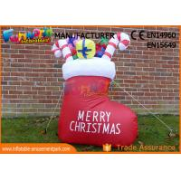 China Boot or Snowman Inflatable Christmas Decorations with 1 Year Warranty on sale
