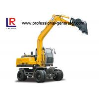 Buy cheap 60kw 2200 rpm Wheel Excavator with 50KN Digging Force , 20Mpa Overdrive Pressure product