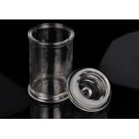 Quality Eco Friendly Glass Jar Candle Holders Replacement Shock Resistant wholesale