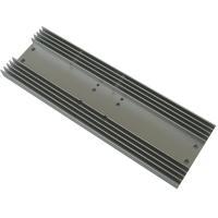 Quality Rectangle Aluminum Heatsink AL6063  Extrusion Profile Radiator for Consumer Electronics wholesale