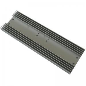 China Rectangle Aluminum Heatsink AL6063  Extrusion Profile Radiator for Consumer Electronics on sale