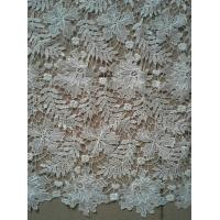 Quality Grey+Green Soft Guipure Lace Fabric Embroidered For Dress Lining wholesale