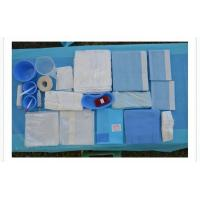 China Blue Color Sterile Surgical Drape Pack / Disposable Examination Drape on sale
