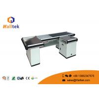 Quality Aluminum Alloy Grocery Store Checkout Counter Flexible With Conveyor Belt wholesale