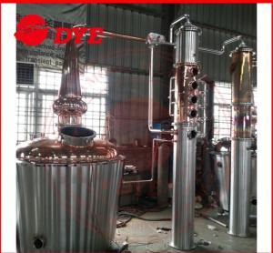 Quality 350L Micro Home Alcohol Distiller Apparatus , Copper Distillery Equipment wholesale
