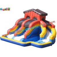 China Popular Outdoor Inflatable Water Slides , Inflatable Pool Slide With CE , EN14960 on sale