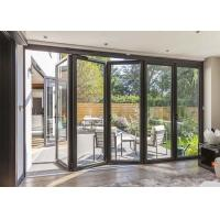 Quality Fire Proof Aluminium Bifold Patio Doors , Residential Folding Doors With Louver Inside wholesale