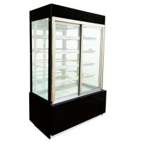 Quality Curved Glass Door With 3 Shelf Cake Display Showcase For  Snack In Bakery Shop wholesale