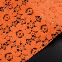 Cheap Soft Fancy Burnt Orange Embroidered Lace Fabric For Saree Clothes for sale