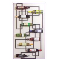 Quality Handcrafted Wall Metal Wine Rack wholesale
