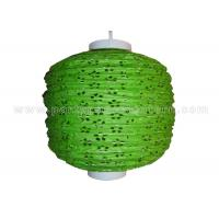 Quality 100% Handmade Eyelet Paper Lanterns wedding decorations Green silver white Color wholesale