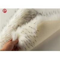 Quality Soft White Plush Faux Fur Fabric 70mm Pile White Black Fleck Tips Faux Fur wholesale