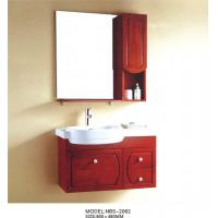 Quality Solid Wood Bathroom Cabinet painted Soft closing system 800 * 160 * 800mm mirror size wholesale