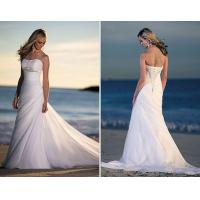 China most popular organza beading strapless wedding gowns on sale