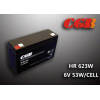 Quality Maintenance Free Valve Regulated Lead Acid Battery 6v 13AH , HR653W Power Supply Battery wholesale