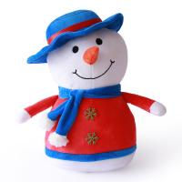Quality Comfortable Animated Plush Christmas Toys Flexible Delicate Touch Snow Man wholesale
