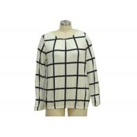 Quality Checks Patterned Office Ladies Casual T Shirts Basic Womens Tees Custom Size wholesale