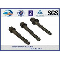 Quality High Hardness 5.6 Grade 35# Railway Screw Spikes , DIN Standard wholesale