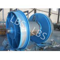 Quality Fully Machined Wire Rope Winch Drum With Lebus Sleeves / Oilfield Drums wholesale