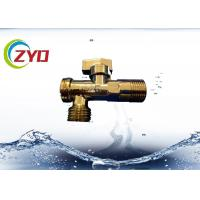 China Plastic Handle Brass Plumbing Valves Anti Corrosion Chrome Plated Surface on sale
