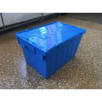 Quality Attached Lid Mesh Body Plastic Storage Crates For Transportation wholesale