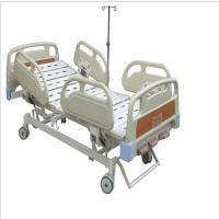 Buy cheap Three Cranks Manual Hospital Bed Pp Side Rails With Expoxy Coated Bed Frame from wholesalers