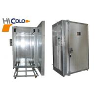 Quality 9kw 380V Electric Powder Coating Oven Insulation With Manual Trolley wholesale