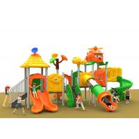 China Exercise Gym Kids Garden Wooden Slide , Plastic Playgrounds For Backyard on sale