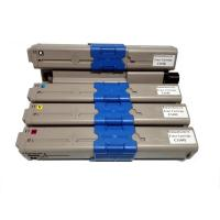 Quality Remanufactured for OKI 44973545/ 44973546/ 44973547/ 44973548 Color Toner Cartridges wholesale