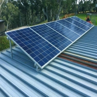 China Galvanized Steel Solar Panel Roof Mounting System on sale