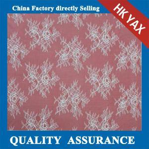 China Hot selling white 100% nylon scalloped lace fabric for wedding dresses,scalloped lace fabric on sale