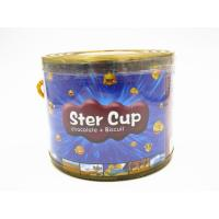 Quality 4g Star Chocolate Cup In PVC Jar Sweety Chocolate With Crispy Cookie wholesale