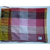 China Silk Scarf With Checker Pattern on sale