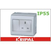 Quality Flat Pin 13A IP55 Weatherproof Switch Socket 250V With British Standard wholesale